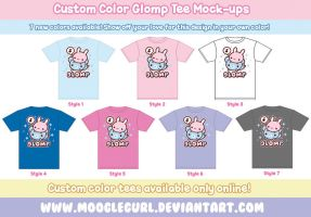 Custom Color Glomp Tees by MoogleGurl