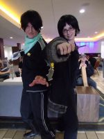 Izaya and Yato by ShadowYazoo