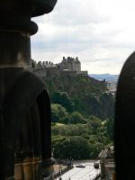 Castle through Scott Monument by Oniwolf12