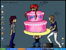 My 18th birthday desktop by Roya111