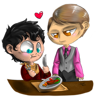 Chibi Hannibal - Cannibalism in two by FuriarossaAndMimma