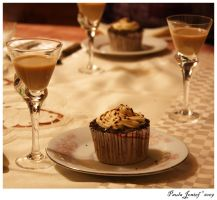 Baileys and Capuccino Cupcake by PaulaImperatrix