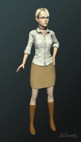 Casual Fiona v2 render by Lilacatz