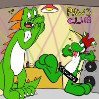 Troubles at Paw's Club - by BigDino by McTaylis