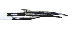 Mass Effect Abukir Class Stealth Frigate by Seeras
