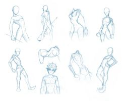 Pose Studies 5 - Fitting anatomy to your mannequin by BBstudies