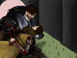 Ezio and Cristina WIP by Mrs-Lovetts-Meat-Pie