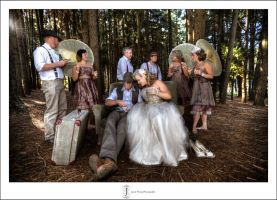 Bridal Party in the forest by jasonhwong