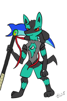 :Request: Chaos the Lucario by Babywarrior5