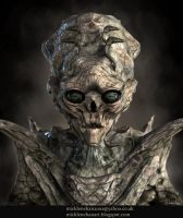 Alien Flesh Eater Portrait by Mick2006