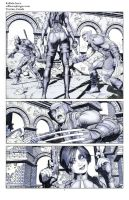 Wolverine Deadpool Domino pencils01 by Raffaele-Ienco