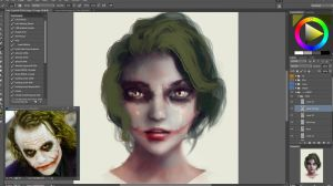 Stylize Semi-realism Face Painting Guide WIP by Eddy-Shinjuku