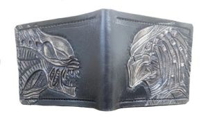 Aliens vrs predator leather wallet by Bubblypies
