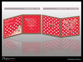 Wedding Invitation 'Dots' by simoner