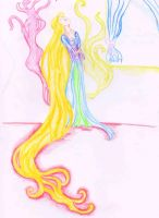 Rapunzel The Trapped Beauty by fireburner543
