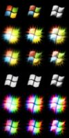 Windows Rainbow Start Orbs by flexdaw