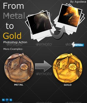 From Metal to Gold - Photoshop by agodesa