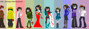 HS: Holiday/Winterstuck Alphas by KPenDragon