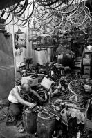 A Bicycle Repair Shop by nelkwan