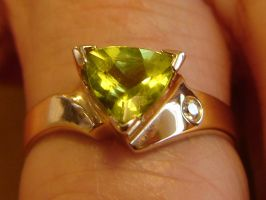 Peridot Diamond Ring by FantasyStock