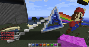 Pink Floyd in Minecraft by branduboga