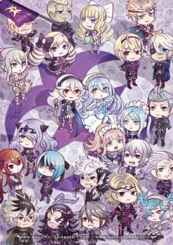 FE:Fates Nohr Chibis by Kyoumei