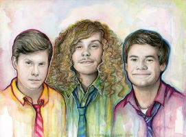 Workaholics Art Portrait, Anders, Blake, Adam by Olechka01