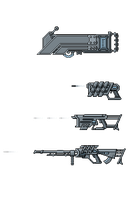 Cyberpunk weapon concepts by Ronamis