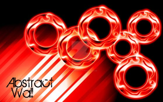 Red Abstract Rings by TripleXPlaya