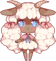 Sheep Gijinka by pikaxiu