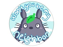 Totoro Button by KungPowCREATIONS
