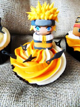 Naruto cupcake by I-am-Ginger-Pops