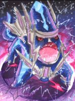Dialga's Roar of Time by Porcubird