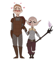 DA: Alistair And Roe by Rad-Pax
