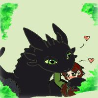 Toothless and Hiccup are BFF by korychan