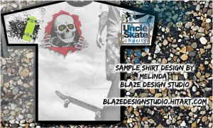 Shirt Design for Uncle Skate by BlazeTucson