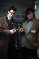Doctor Who's 10th and 11th incarnation by The-Prez