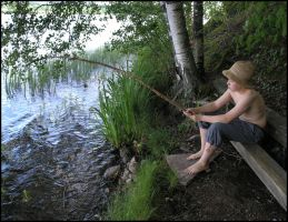 Angler - Little Fisherman by Eirian-stock