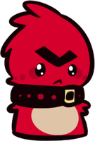 Red Angry Birds Scarfblob by favouritefi
