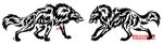 Tribal Wolf Face Off Tattoo Set by WildSpiritWolf