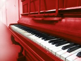 Red Piano by gabrielneale
