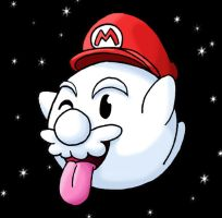 Boo Mario in Space by Twime777