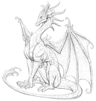 little dragon sketch by hibbary