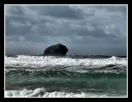 Gull Rock Portreath by Pjharps