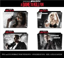 Sin City A Dame To Kill For (Folder Icon Pack) by Llyr86