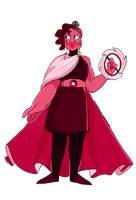Fusion Friday | Rose Quartz/Ruby | Speedpaint by KitsuneZakuro