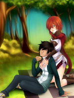 Romance in the Forest by Checkered-Fedora