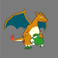 Yoshis Ride Charizards, Not The Other Way Around!! by Kopatropa