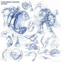 Miscellaneous Mechanical Sketches by Zirngibl