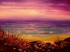 PAINTING: Gentle Sunset by AnnMarieBone